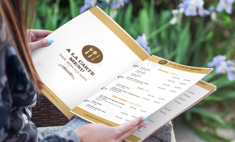 in menu tại Đà Nẵng