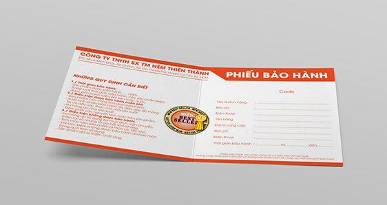 In phiếu bảo hành tại Đà Nẵng