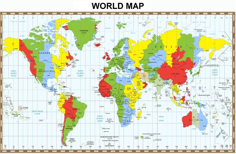 in bản đồ thế giới