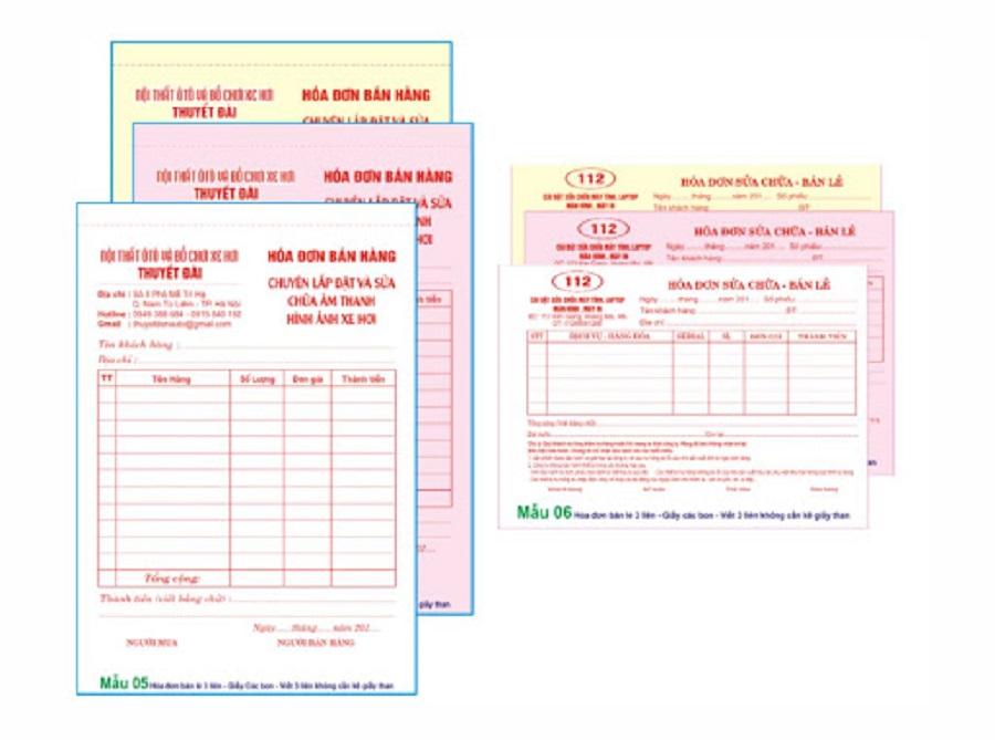 in hóa đơn bán lẻ tại đà nẵng