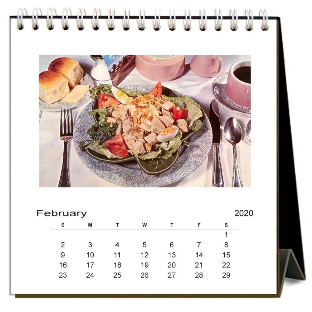 mẫu lịch bàn chủ đề ẩm thực