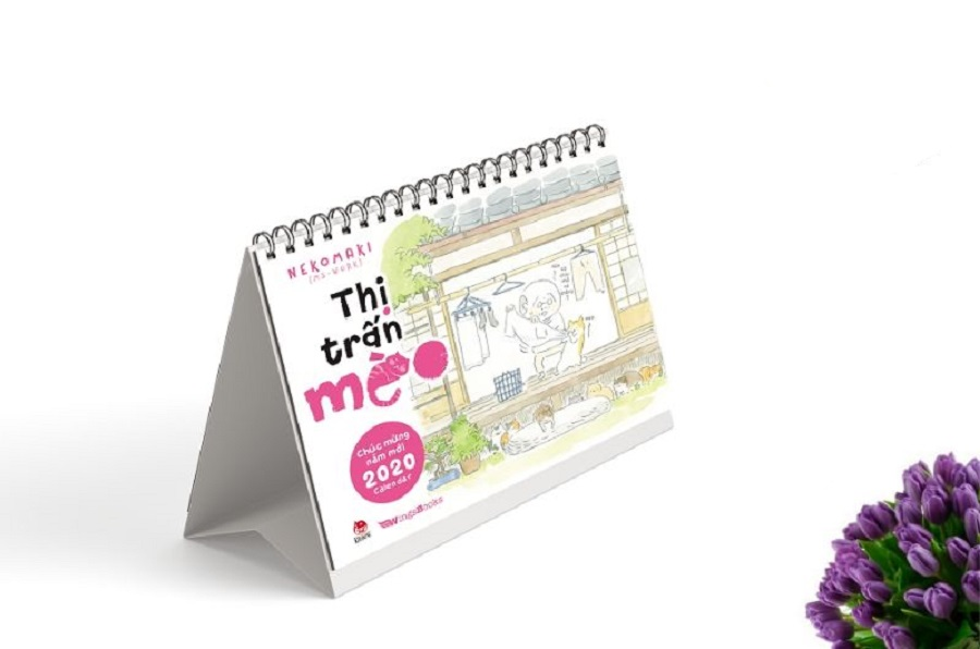 mẫu lịch bàn chủ đề sách tại Đà Nẵng