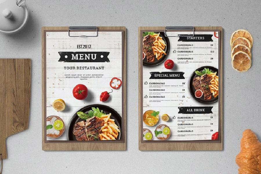 in menu cafe Đà Nẵng